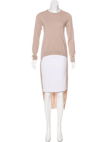 Brunello Cucinelli High-Low Cashmere Sweater None