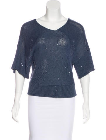 Brunello Cucinelli Embellished Knit Top None