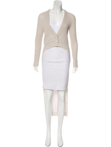 Brunello Cucinelli Embellished High-Low Cardigan None