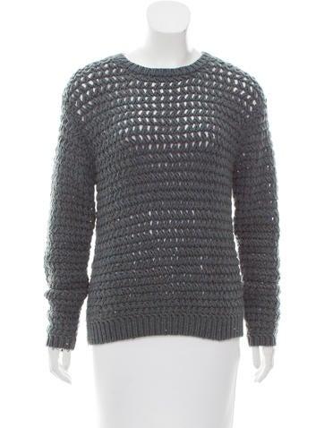 Brunello Cucinelli Cashmere Sequined Sweater w/ Tags None