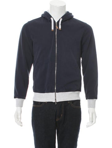 Brunello Cucinelli Hooded Rib Knit-Trimmed Sweatshirt None