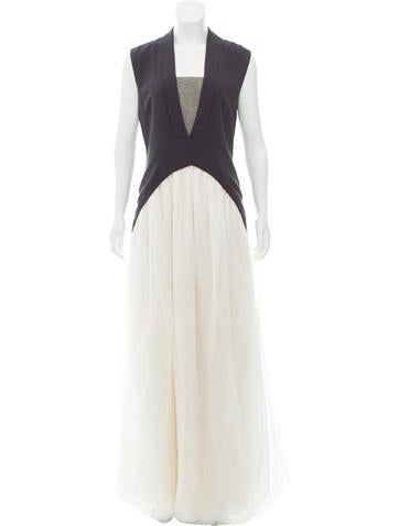 Brunello Cucinelli Sleeveless Monilli-Accented Gown w/ Tags None