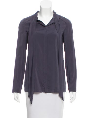 Brunello Cucinelli Embellished Silk Top None