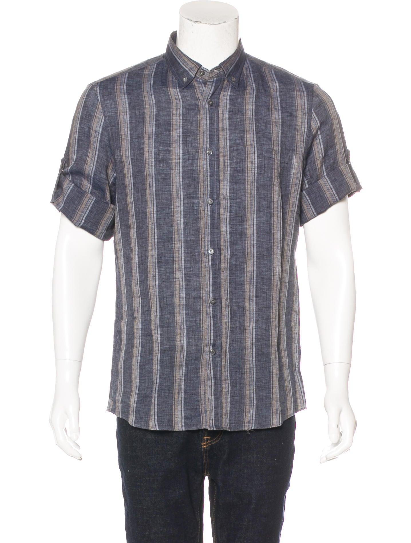 brunello cucinelli striped linen shirt clothing