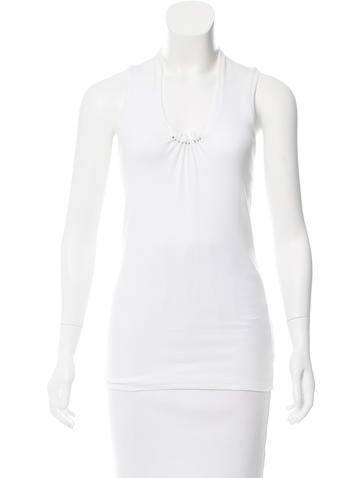 Brunello Cucinelli Embellished Rib Knit Top None
