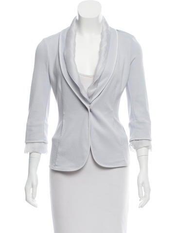 Brunello Cucinelli Knit Silk-Trimmed Blazer None