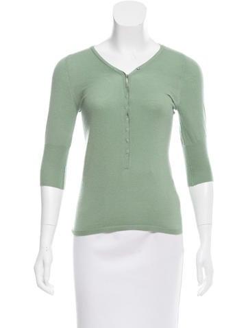 Brunello Cucinelli Cashmere Short Sleeve Top None
