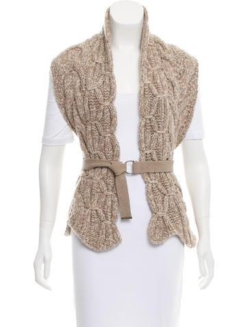 Brunello Cucinelli Cashmere Knit Shawl w/ Tags None