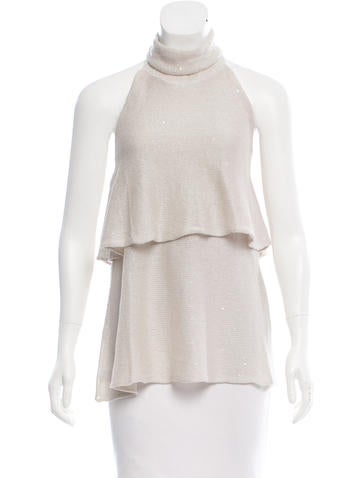 Brunello Cucinelli Sleeveless Embellished Top w/ Tags None