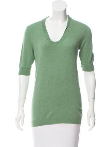 Brunello Cucinelli Short Sleeve Cashmere Top None