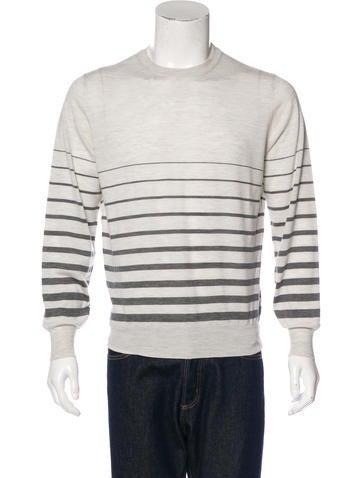 Brunello Cucinelli Striped Wool Sweater None