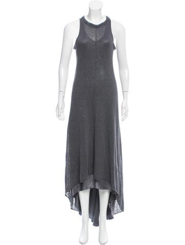 Brunello Cucinelli Embellished Linen Dress None