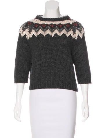Brunello Cucinelli Cashmere Fair Isle Sweater None