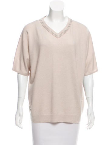 Brunello Cucinelli Short Sleeve Cashmere Sweater None