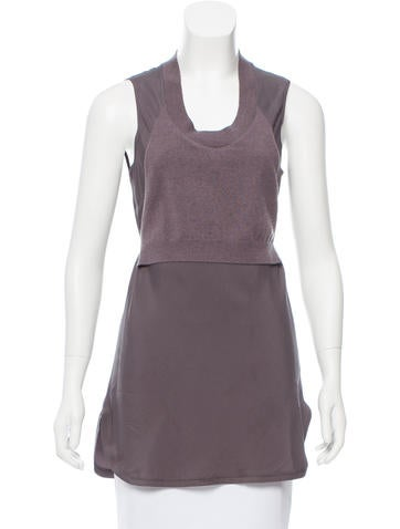 Brunello Cucinelli Sleeveless Contrasted Top None