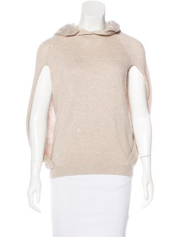 Brunello Cucinelli Cashmere & Silk-Blend Poncho None