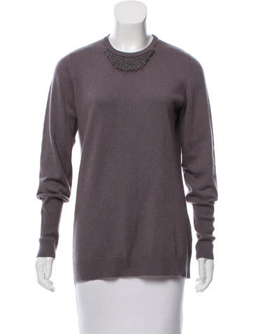 Brunello Cucinelli Cashmere Monili-Trimmed Sweater None