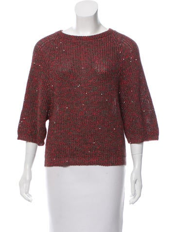 Brunello Cucinelli Sequined Mélange Sweater None