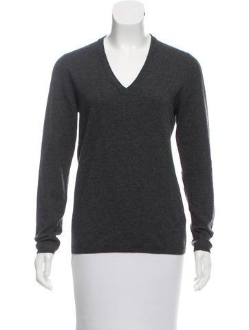 Brunello Cucinelli Suede-Trimmed Cashmere Sweater None