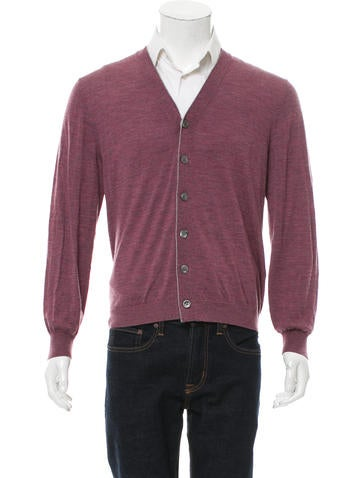 Brunello Cucinelli Wool Rib Knit Cardigan None