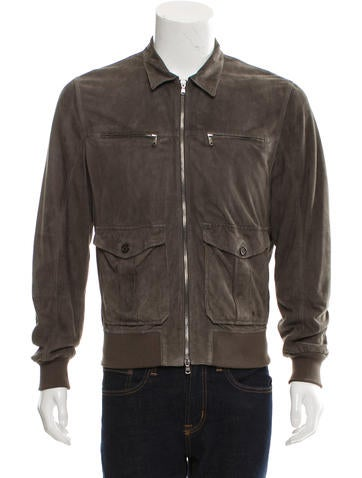 Brunello Cucinelli Suede Rib Knit-Trimmed Jacket None