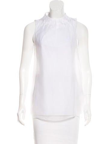 Brunello Cucinelli Sleeveless Silk Top None