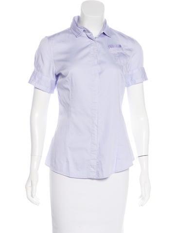 Brunello Cucinelli Short Sleeve Button-Up Top None