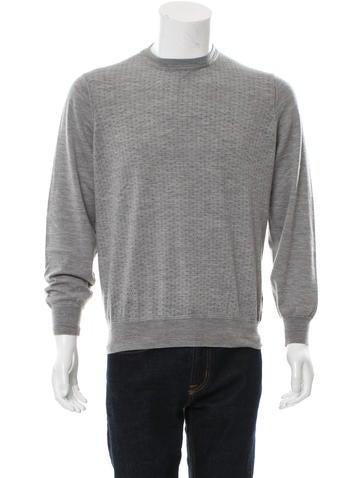 Brunello Cucinelli Wool Geometric Print Sweater None