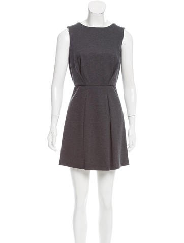 Brunello Cucinelli Monili & Silk-Trimmed Dress None