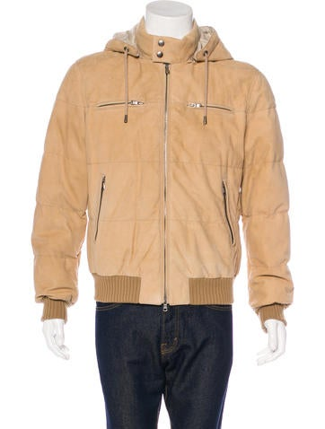 Brunello Cucinelli Suede Quilted Jacket None