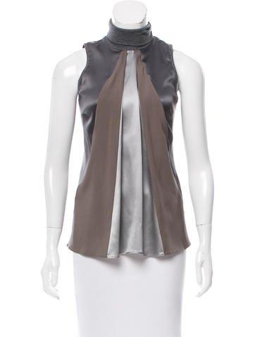 Brunello Cucinelli Sleeveless Silk Top w/ Tags None