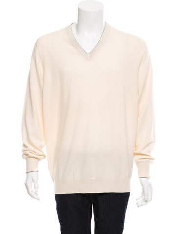 Brunello Cucinelli Cashmere V-Neck Sweater w/ Tags None