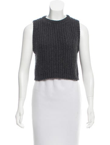 Brunello Cucinelli Cashmere Crop Top None