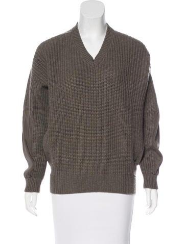 Brunello Cucinelli Wool & Cashmere Rib Knit Sweater None