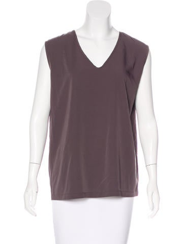 Brunello Cucinelli Sleeveless V-Neck Top None