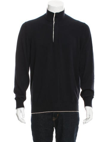 Brunello Cucinelli Rib Knit Polo Sweater None