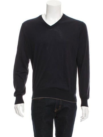 Brunello Cucinelli Rib Knit V-Neck Sweater None
