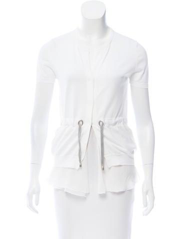 Brunello Cucinelli Short Sleeve Knit Top None