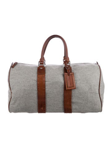 Brunello Cucinelli Leather-Trimmed Wool Weekender None