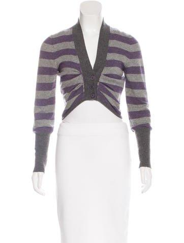 Brunello Cucinelli Striped Cashmere Cardigan None