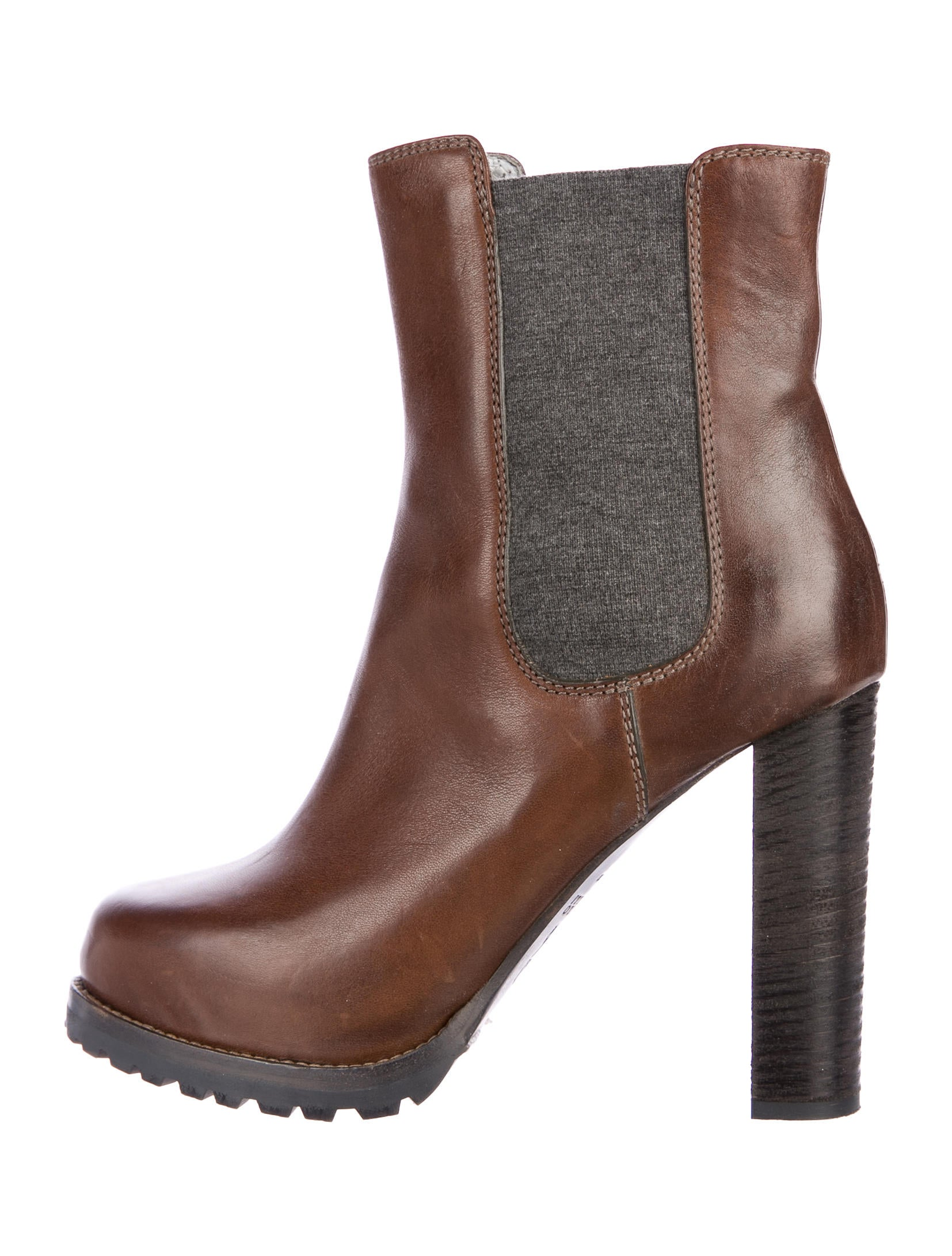 big sale sale online Brunello Cucinelli Leather Round-Toe Ankle Boots geniue stockist online cheap excellent with mastercard sale online bzJWFfy6P