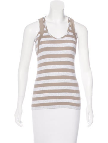 Brunello Cucinelli Striped Sleeveless Top None