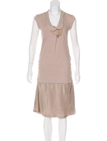 Brunello Cucinelli Sleeveless Midi Dress None