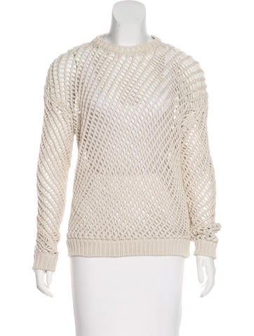 Brunello Cucinelli Open Knit Sweater None