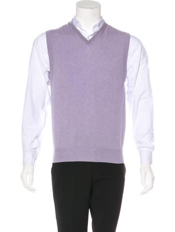 Brunello Cucinelli Cashmere Sweater Vest None