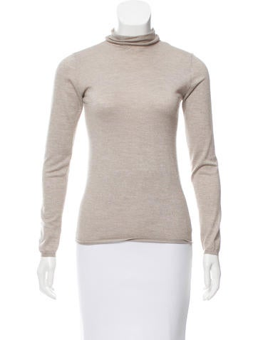 Brunello Cucinelli Long Sleeve Turtleneck Top None