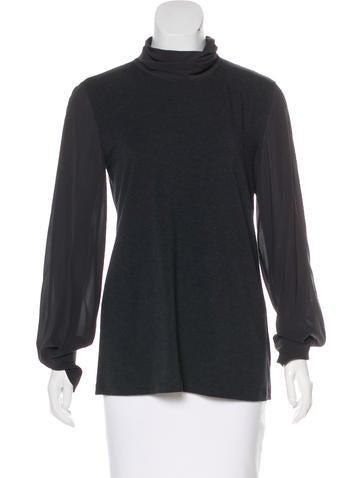 Brunello Cucinelli Silk-Accented Knit Top None