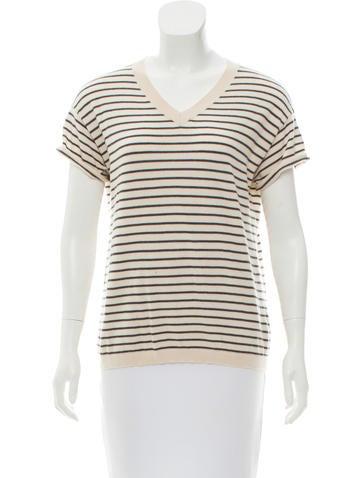 Brunello Cucinelli Wool Striped Sweater None