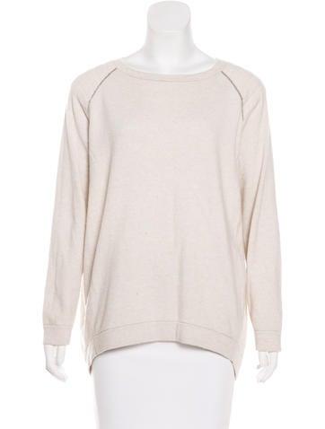 Brunello Cucinelli Monili-Trimmed Long Sleeve Sweater None