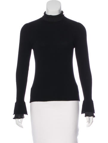 Brunello Cucinelli Silk-Trimmed Cashmere Sweater None